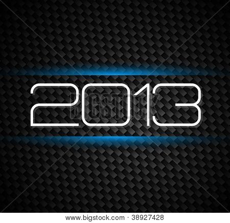 2013 hight tech style new year background over a carbonic background