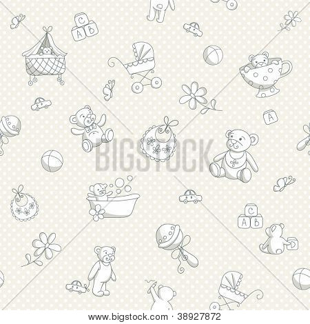 Baby seamless background