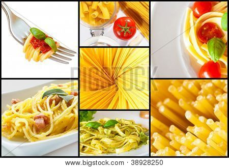 Collection of italian pasta images
