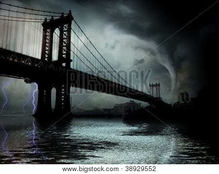 Tornado NYC Illustration