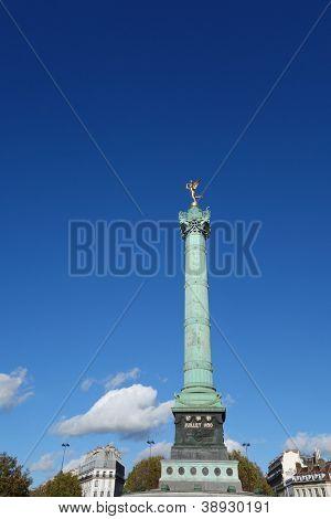 Place de la Bastille in the 3th arrondissement of Paris