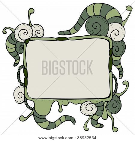 Speech Bubble With Tentacles