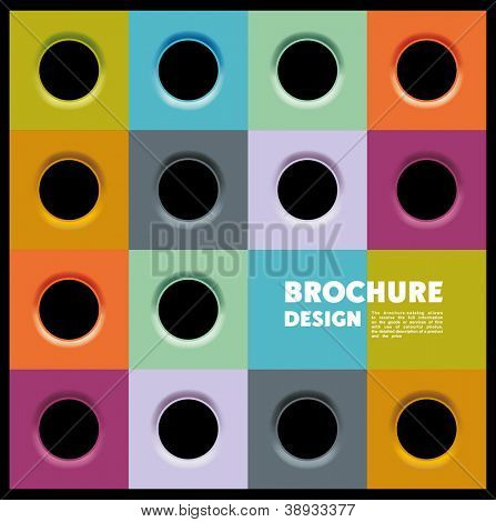 broshure background with eyelets