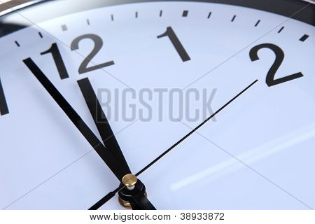 round office clock close up