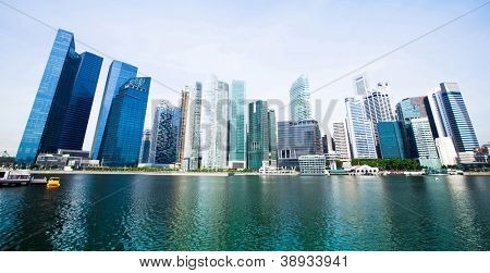 Wide panorama of skyline Singapore