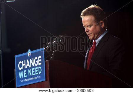 Sen. Webb Of Virginia At Obama\'s Rally