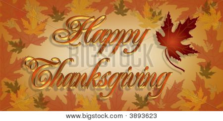 Thanksgiving Card Graphic Illustration 3D Text