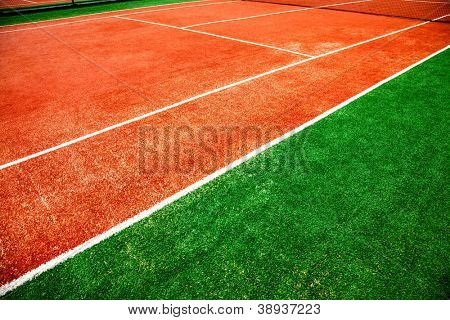tennis court close-up background
