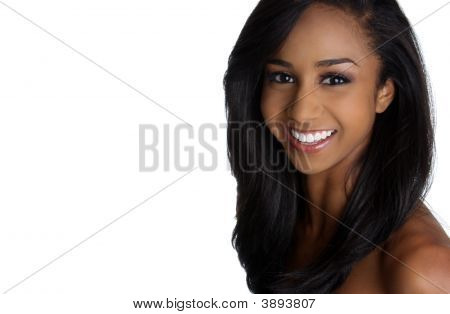African-American Woman With Beautiful Smile.
