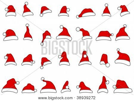 Santa hats doodles