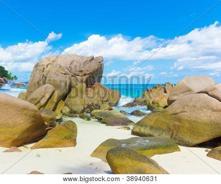 Stones Ocean Waves