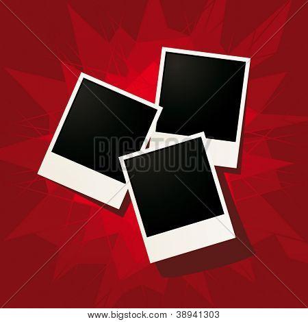 vector photo frames set