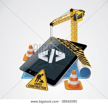 Vector website construction icon