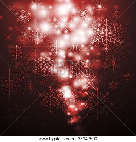 Merry Christmas! Abstract sparkling background with snowflakes. Eps 10 vector design