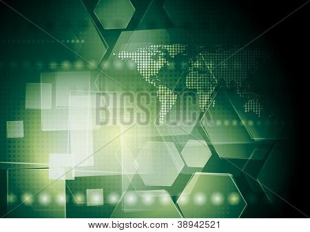 Hi-tech green abstract background. Vector illustration eps 10