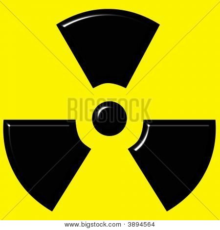 3D Radioactive Sign