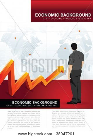 Abstract vector economic background for brochure, flyer or poster