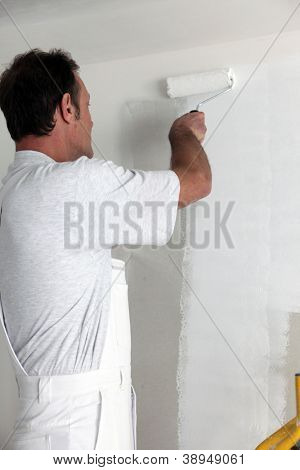 craftsman painter working