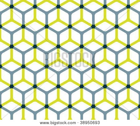 Abstract cube pattern in editable vector format