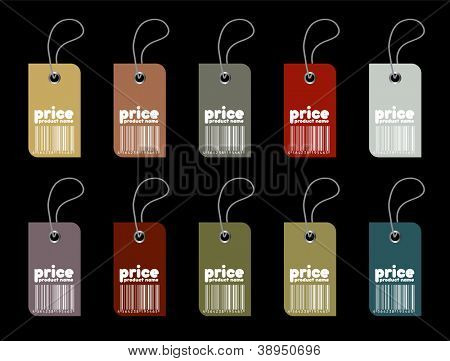 Price tag set in editable vector format