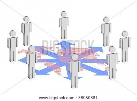 symbolic illustration for social network, eps 10 vector