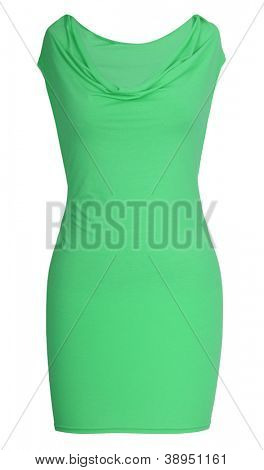 green dress isolated on white