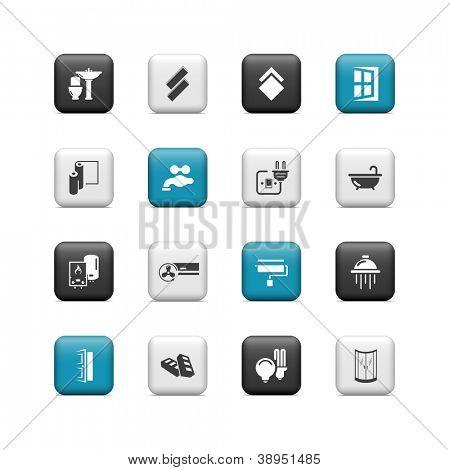 Renovierungs-Symbole. Schaltflächen