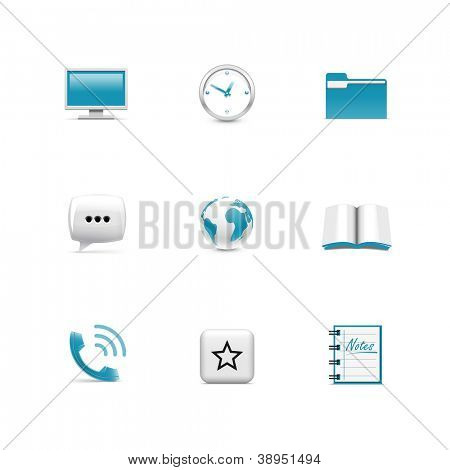 Web icons. Azzurro