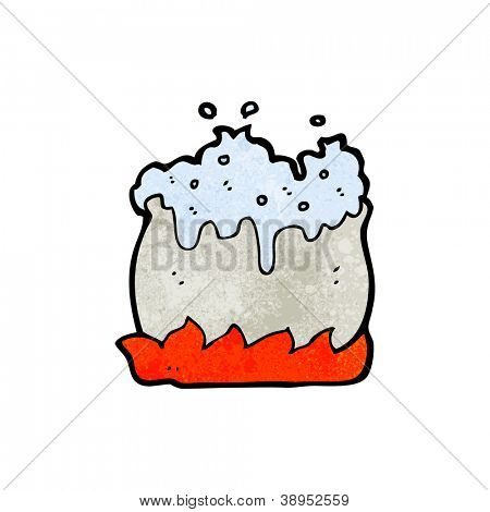 cartoon bubbling cauldron