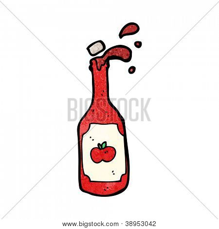 ketchup bottle cartoon