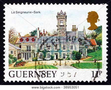 Postage stamp Guernsey 1985 La Seigneurie, Sark