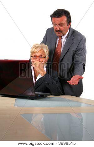 Manager Explains To Secretary