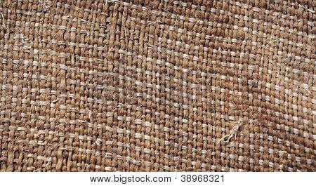 close up brown linen canvas texture