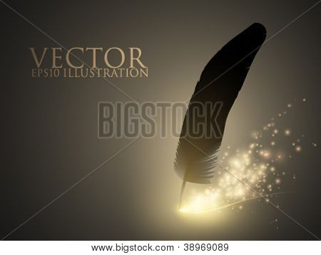 sparkling vector feather