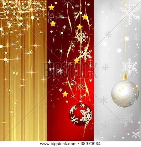 Illustration of banner with a christmas background. Vector.