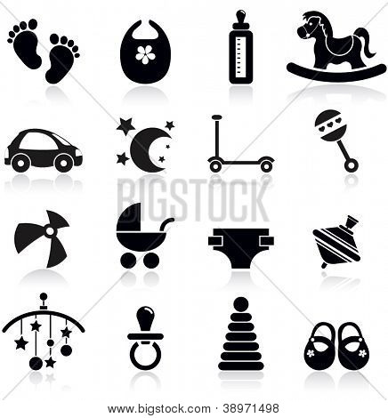 Baby icons set.Vector Illustration