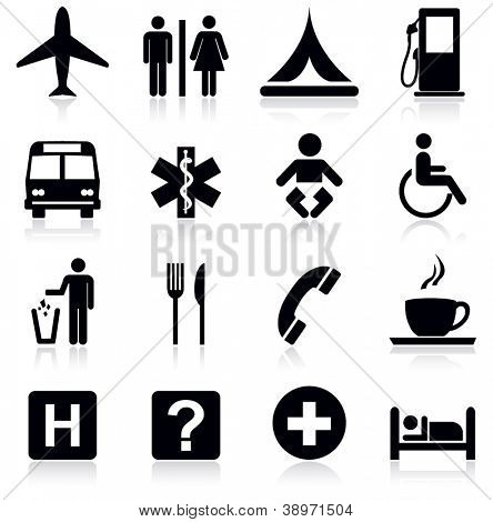 Tourism and travel icons.Vector