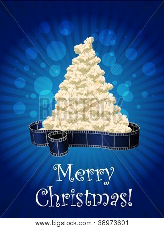 Vector Christmas Card with film