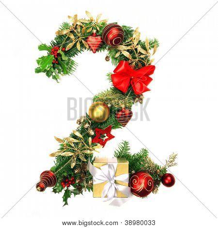 Christmas Alphabet Number 2