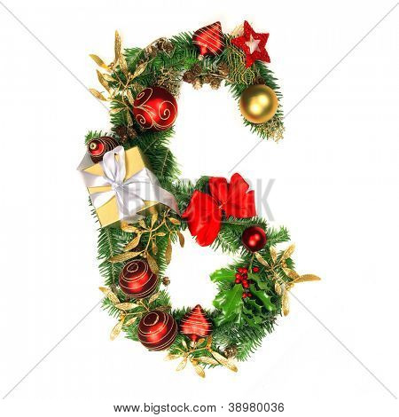 Christmas Alphabet Number 6