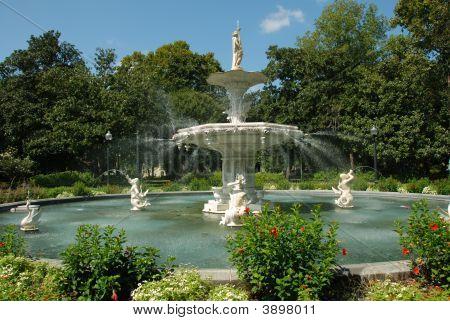 Fountain In Forsyth Park, Savannah Georgia