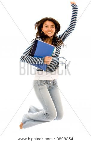 College Student Jumping