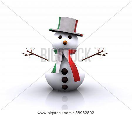 Nice Snowman Italian - 3D