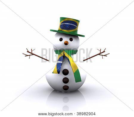 Nice Snowman Brazilian - 3D