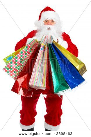 Shopping Christmas Santa