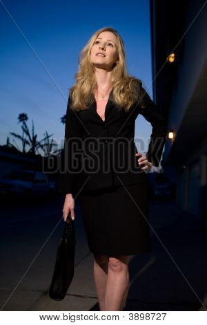 Blond Woman In Business Suit