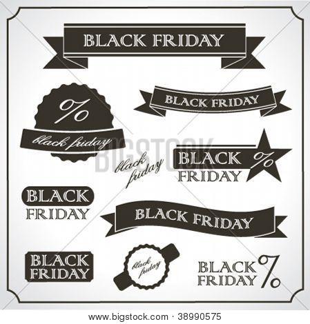 Black Friday vintage retro labels and emblems