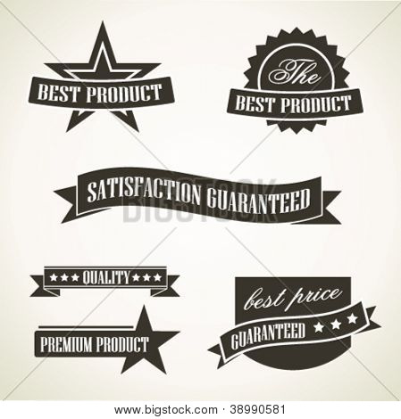 Vintage emblems and labels