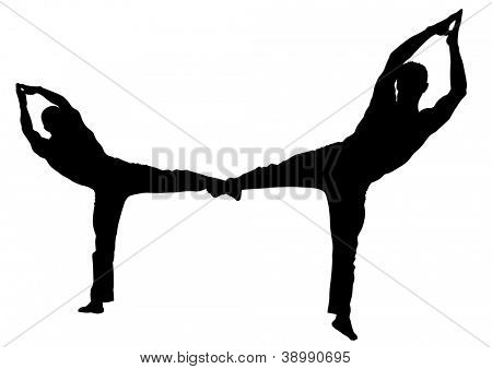 image of gymnasts training at gym