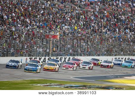 FORT WORTH, TX - NOV 04:  The NASCAR Sprint Cup Series take to the AAA Texas 500 at Texas Motor Speedway in Fort Worth, TX on Nov 4, 2012.